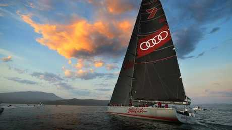 Wild Oats XI has taken line honours in the 2017 Sydney to Hobart. Picture: RICHARD JUPE