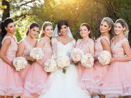 Kat Mehajer with her bridesmaids