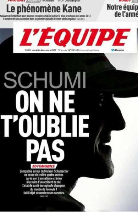 The front page of French sports daily newspaper L'Equipe.