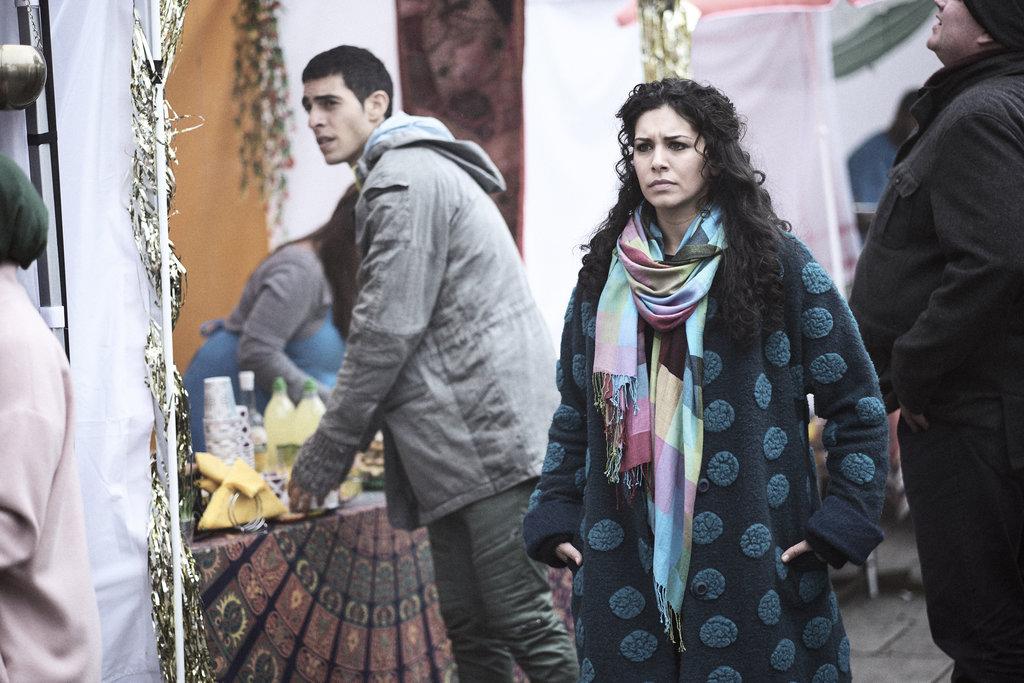 Nicole Chamoun and Julian Maroun in a scene from Romper Stomper.