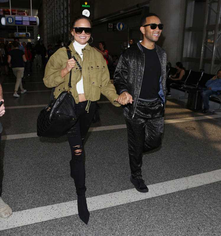 Chrissy Teigen and John Legend spotted in LAX