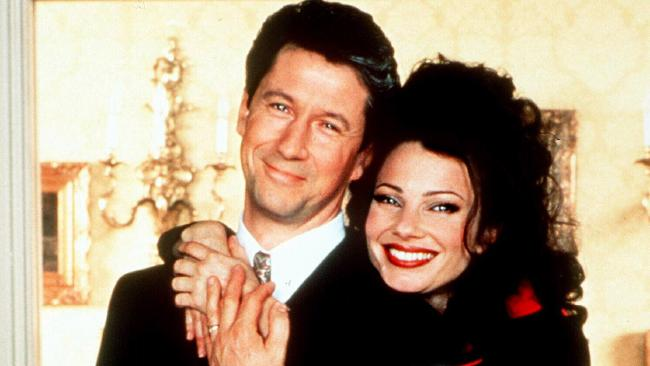 Fran Drescher with Charles Shaughnessy from The Nanny.
