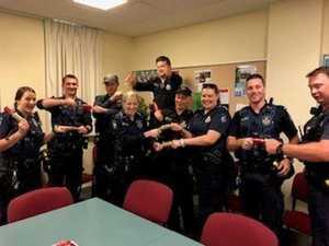 Toowoomba police add Santa hats to blue uniform