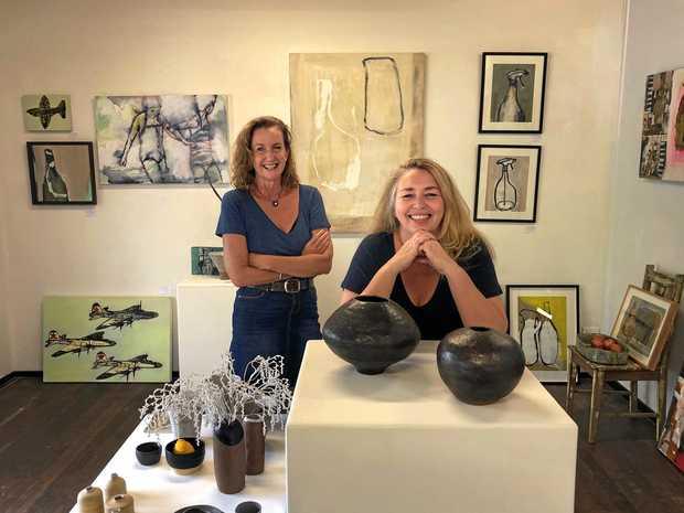 PACKSTERS: Pack Gallery Studio directors Paula Bannan and Karen Preston.