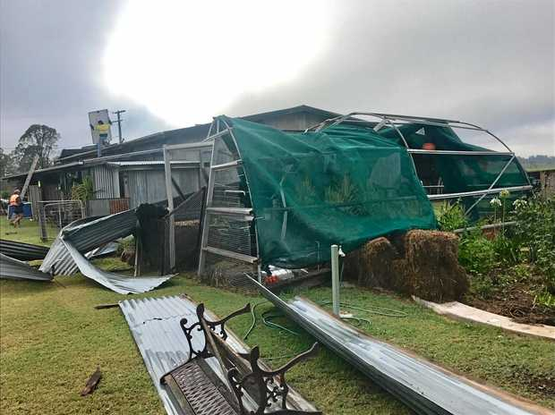 The Tones property following the Boxing Day storm in Kumbia.