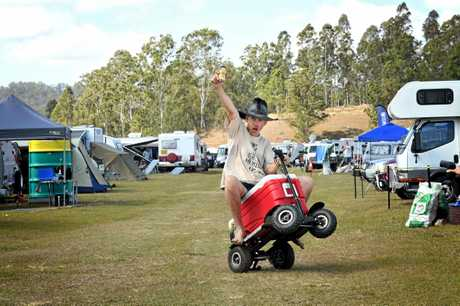 #Gympie Muster 2017 on his esky bike Peter Dutton.