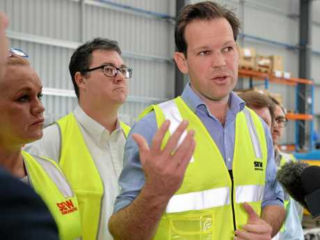 Northern Australia Minister Matt Canavan with MP George Christensen, is backing a separate state and the opportunities that come with it.