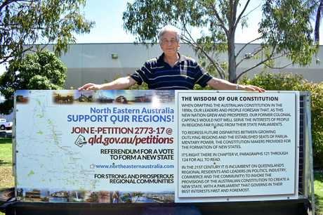 STATE CRUSADE: Bill Bates is on a mission to create two states in Queensland.