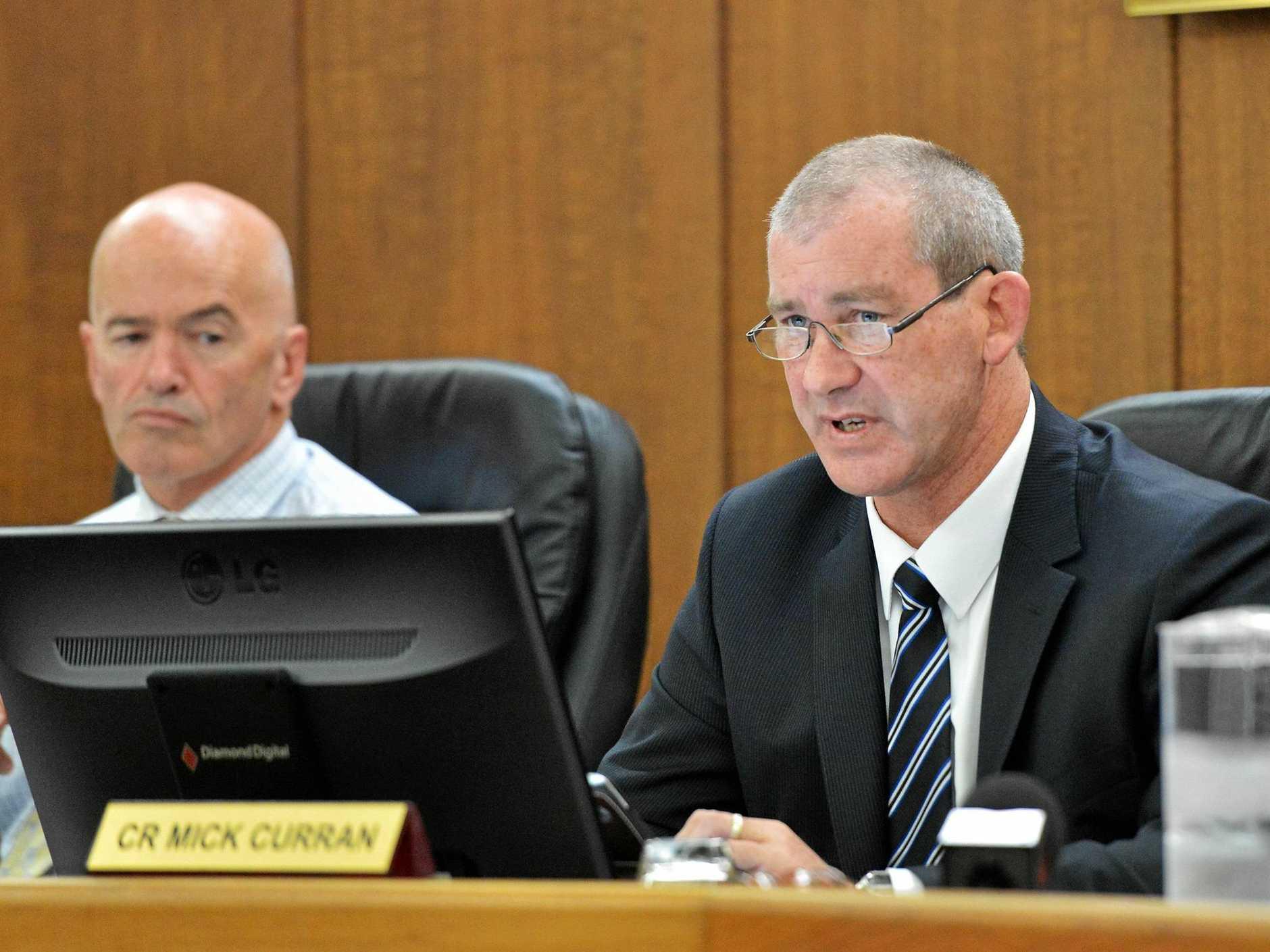 CEO Bernard Smith and Mayor Mick Curran -