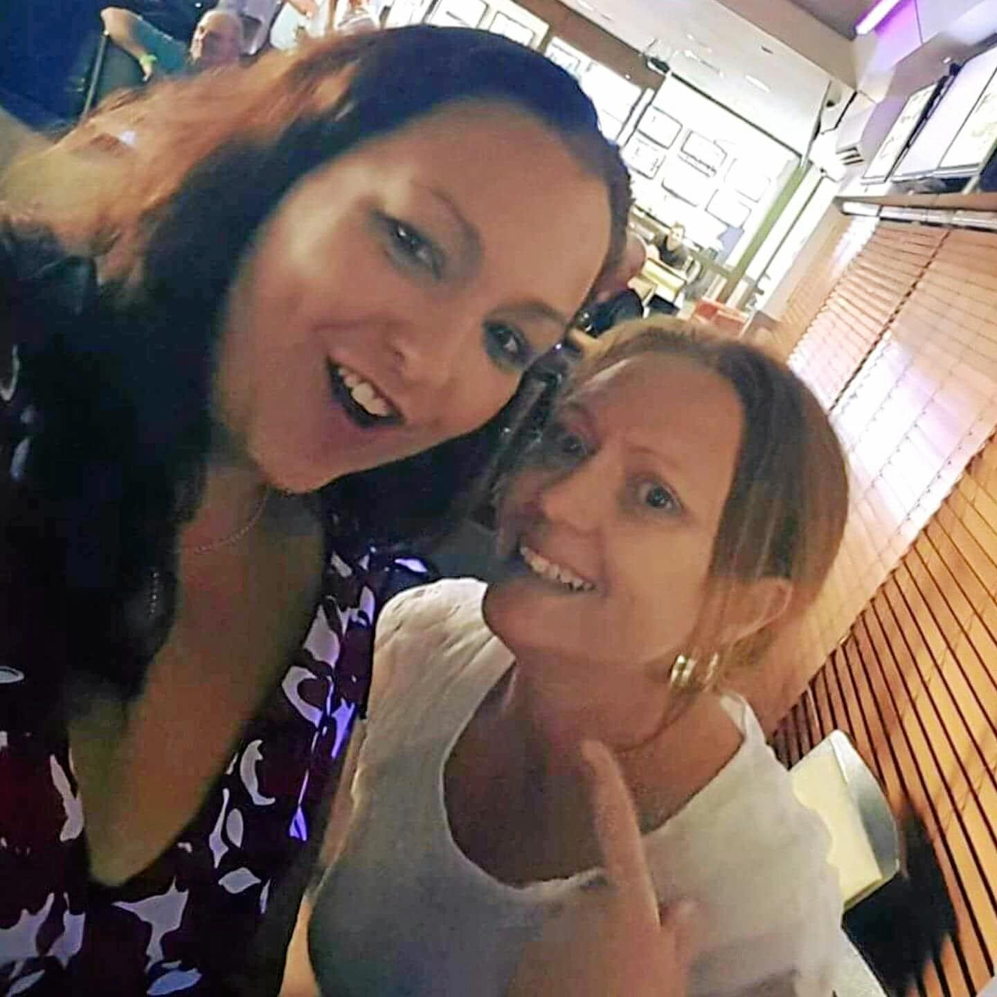 FRIEND IN NEED: Suzette Benz and Stacey Rodgers.