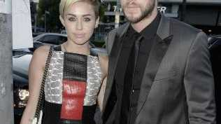 Actress Miley Cyrus and actor Liam Hemsworth