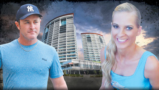 Former Gold Coast Titans cheerleader Breeana Robinson died after falling from a balcony at Southport apartment building H2O after receiving a torrent of abusive texts from boyfriend Dan Shearin.