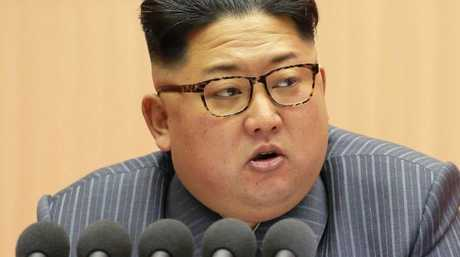 North Korean leader Kim Jong-un has raised global tensions following a series of missile tests this year. Picture: AFP/KCNA/KNS