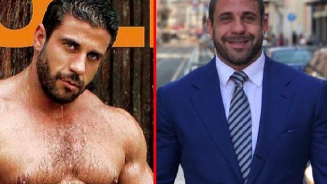 Maths professor Ruggero Freddi was once gay male porn star Carlos Masi. Picture: Facebook