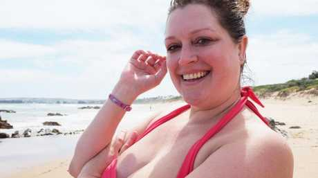 Still got it ... Malkah poses on Boomer Beach.