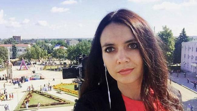 Popular Russian TV presenter Zhanna Veber has been killed in front of her young son. Picture: Facebook