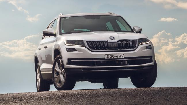 The Goldilocks of seven-seaters: Skoda's Kodiaq. Pic: Thomas Wielecki.