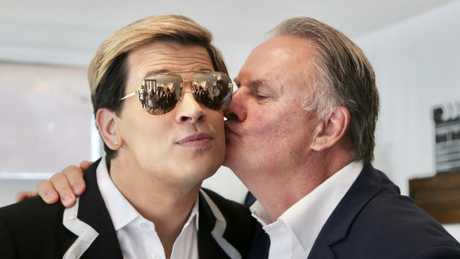 Milo Yiannopoulos and Mark Latham are both fans of making 'snowflake' happen. (Pic: Nathan Richter)