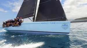 After falling back through the fleet on the first night of the Pantaenius Newport to Coffs Coast yacht race, the crew of About Time gradually made up the gap over the course of the next 24 hours.