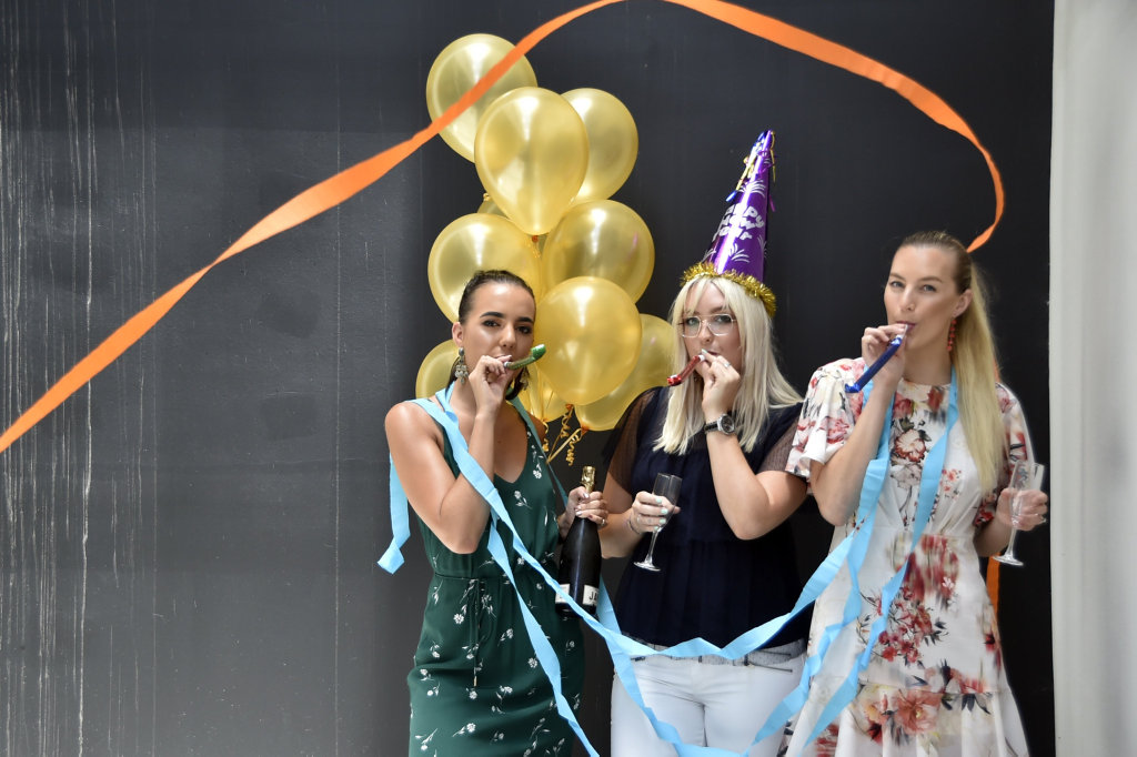 Ready to welcome in 2018 are (from left) Mecca Maxima staff Madi Caldicott, Madeline Smith and Kisyne Chicksen dolled out in Witchery clothing. If you need any last minute make-up tips or outfits head to these stores at Grand Central.