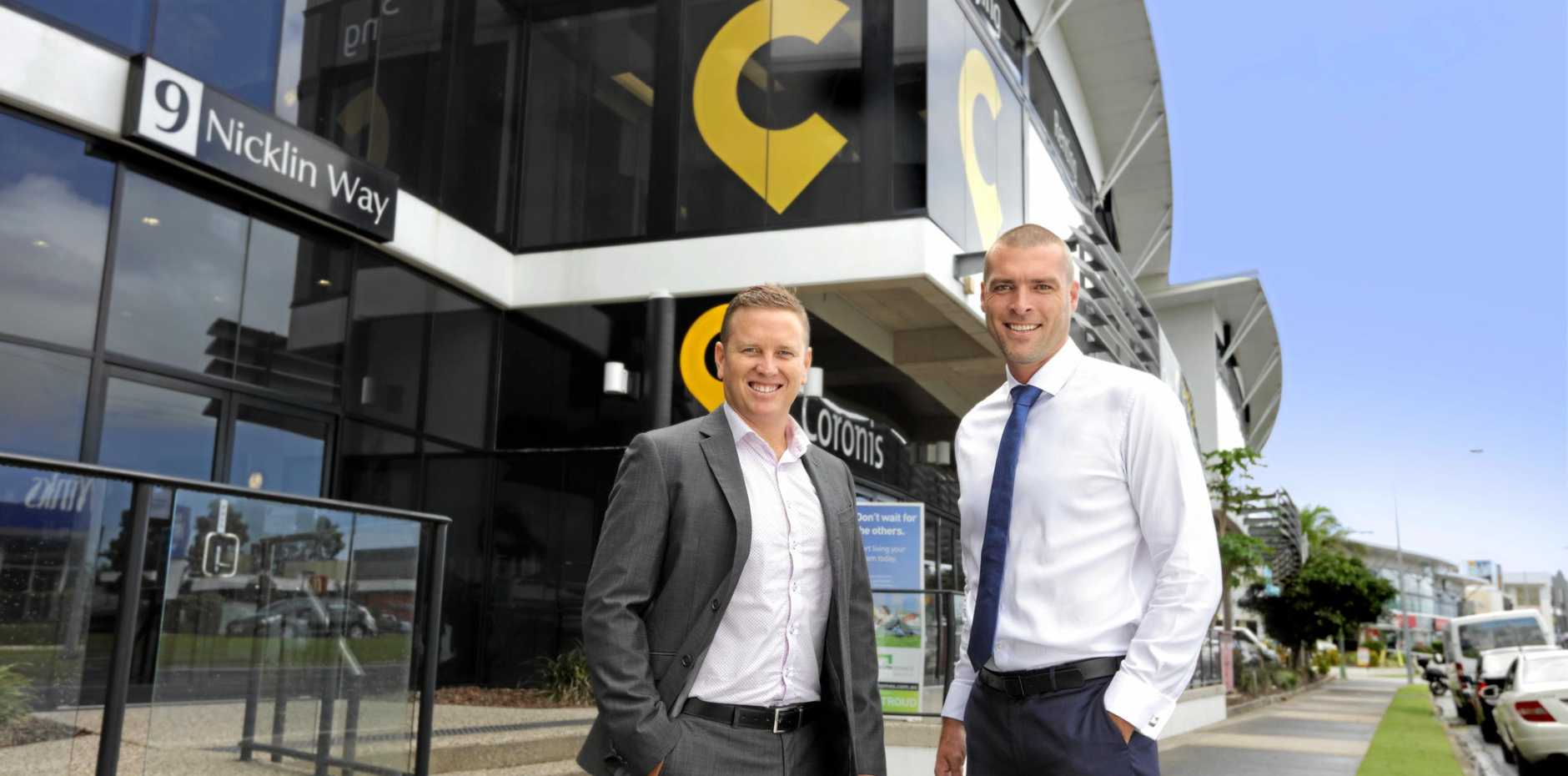 CBRE's Brendan Robins and Ryan Parry at 9 Nicklin Way, Minyama