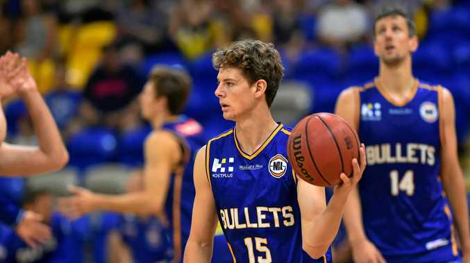 DETERMINED: Brisbane Bullet's Tom Fullarton is relishing his NBL experience.