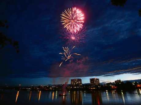 New Years Eve fireworks in Rockhampton.