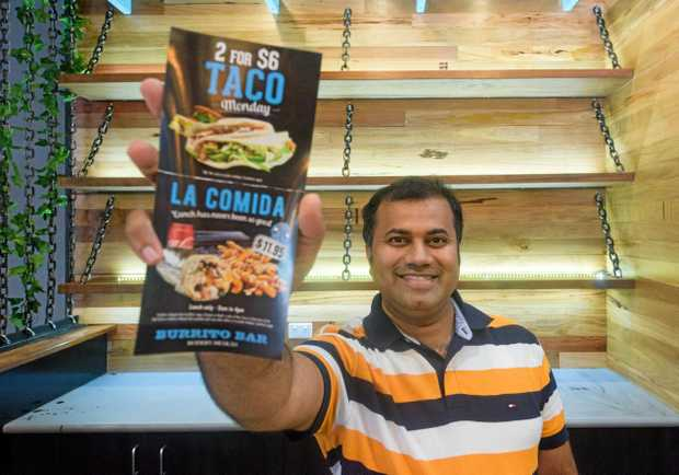 Franchisee of Grafton Burrito Bar Suman Vasikarla is getting ready to open the new Burrito Bar in Grafton Shoppingworld second week of January.