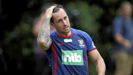 Star Newcastle Knights signing Mitchell Pearce.