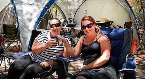 Abbey and Tanya Rasmussen camping at Inskip point earlier in the year.
