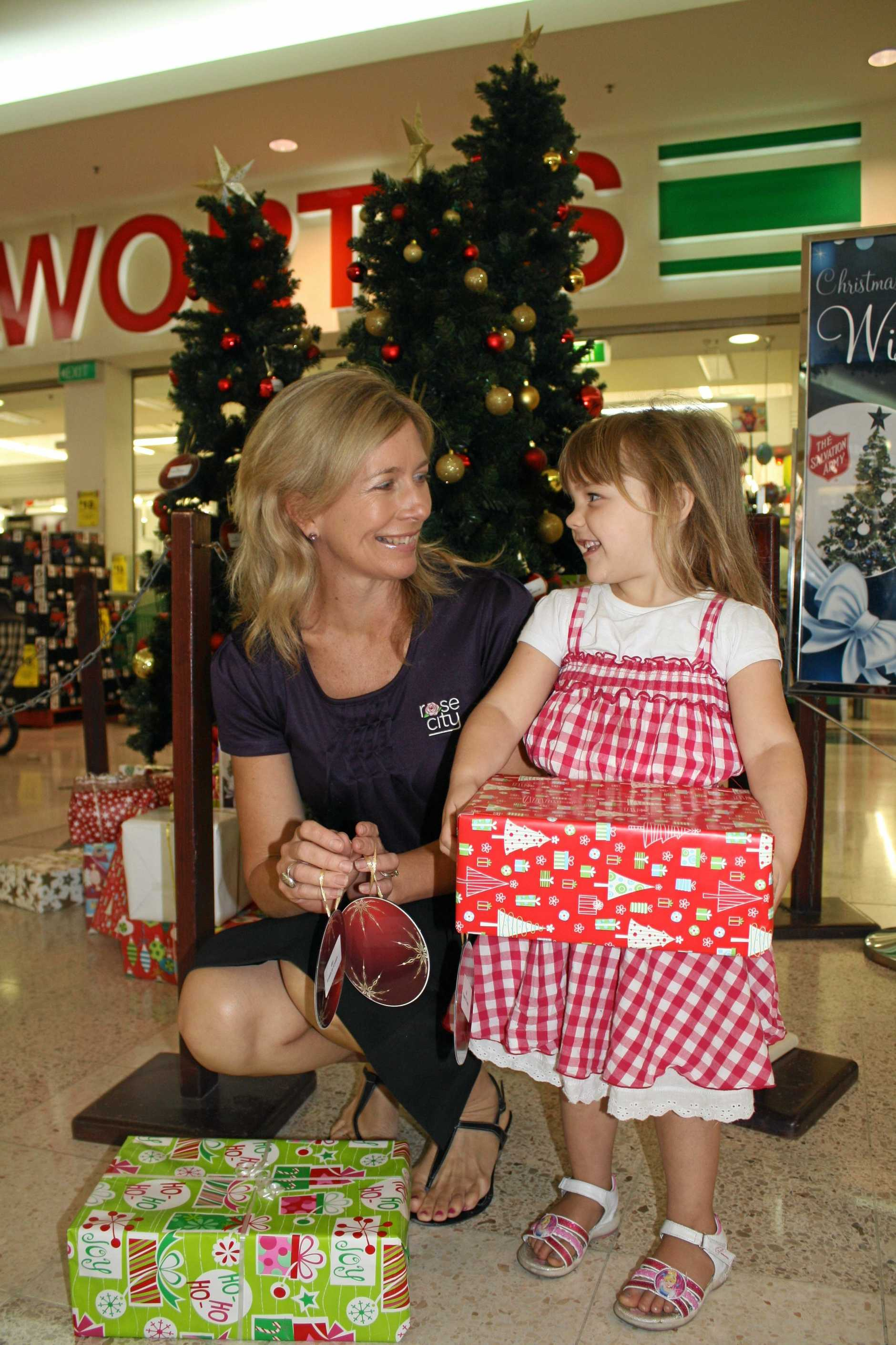 Rose City Shoppingworld marketing manager Louise de Lissa and Lucy Read.