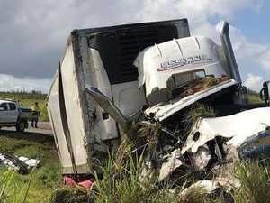 Truck driver airlifted to hospital after serious crash