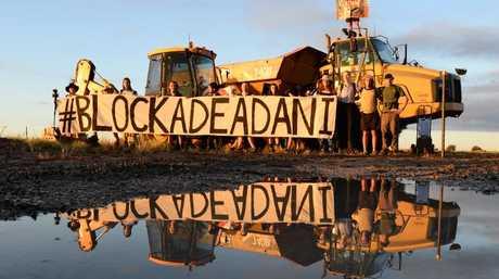 Stop Adani protesters at Belyando, central Queensland, on December 6.