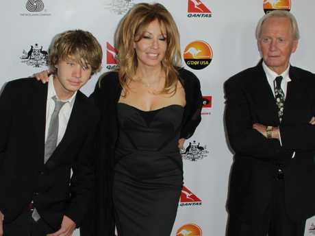 Paul Hogan, Linda Kozlowski and son Chance not long before they split. Picture: Thorpe Rupert