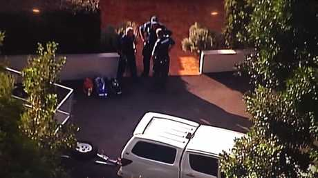 mergency services at Samford Valley last night after a three-year-old was run over in a driveway. Picture: Channel Seven