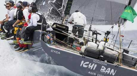 Ichi Ban competing in the 2017 Sydney to Hobart Yacht Race.