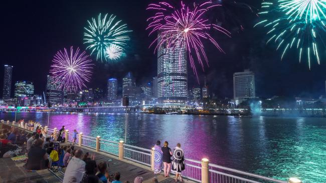 South Bank is one of the best places to watch the fireworks in Brisbane City on New Year's Eve.