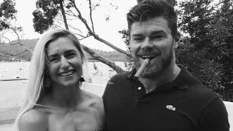 Frances Abbott with fiance Sam Loch