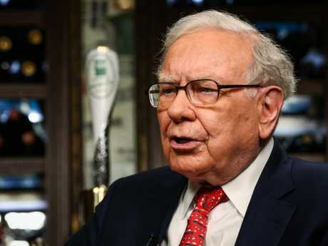 Warren Buffett, chairman and chief executive officer of Berkshire Hathaway Inc. Picture: Christopher Goodney
