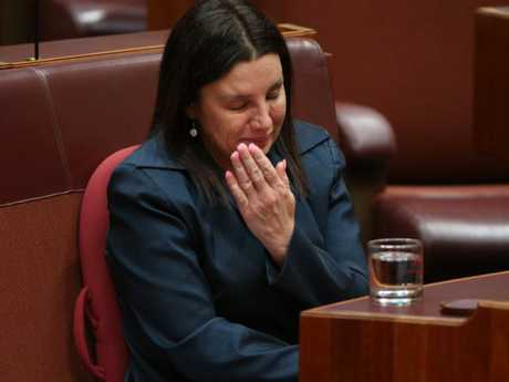 Jacqui Lambie waved a teary goodbye to parliament