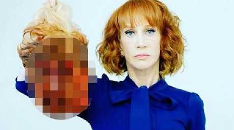 Kathy Griffin was widely condemned for this photo.