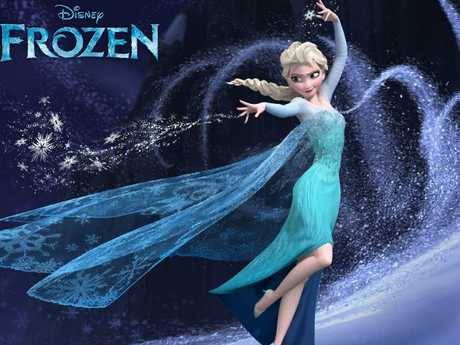 Ice princess Elsa wore blue in Frozen. Picture: Supplied