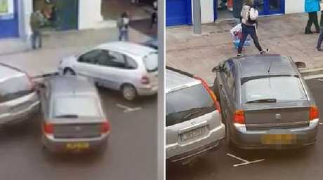 The parking fail just before Christmas was captured on video. Picture: Viralhog