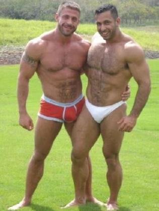 Ruggero Freddi and boyfriend Gustavo Alejandro Leguizamon.  Picture:  Supplied
