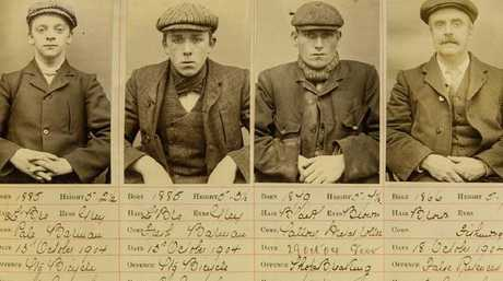 The Peaky Blinders gang who operated in Birmingham in the early 1900s. (L-R): Henry Fowler, Ernest Bayles, Stephen McHickie and Thomas Gilbert. Picture: SINS/Mega