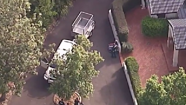 The child was declared dead at the scene. Picture: Twitter/9 News