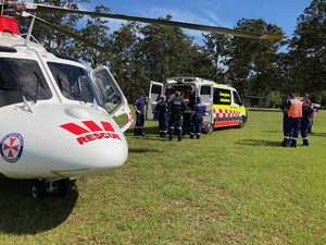 Motorbike rider suffers head, chest injuries
