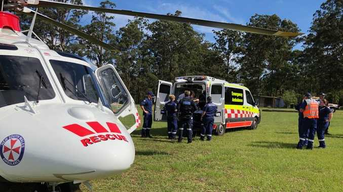 The Westpac Life Saver Rescue Helicopter has been tasked to the Sherwood Nature Reserve near Glenreagh for reports that a male off road motorbike rider has suffered head and chest injuries.