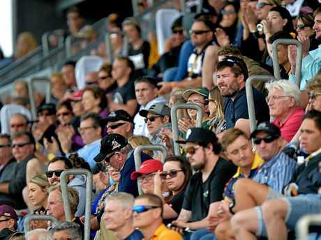 Sunshine Coast Falcons against Townsville Blackhawks Intrust Super Cup rugby league match, round 25, at the Sunshine Coast Stadium.