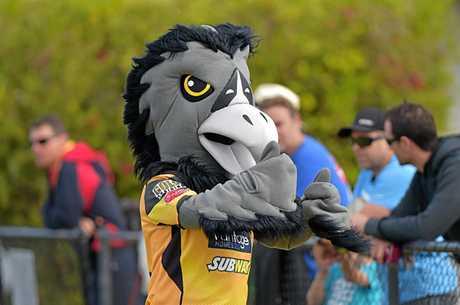 Mario the Sunshine Coast Falcons mascot.